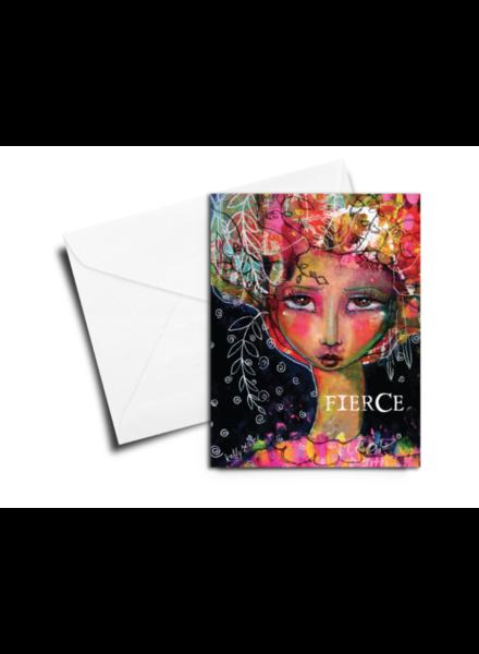 verdigris GREETING CARD: FIERCE