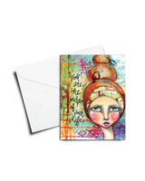 verdigris GREETING CARD: YOU ARE THE SCULPTOR