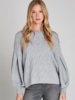 verdigris Volume sleeves cable knit jumper