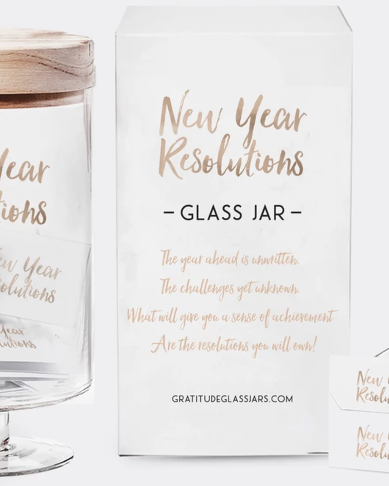 verdigris New Year Resolution's Glass Jar