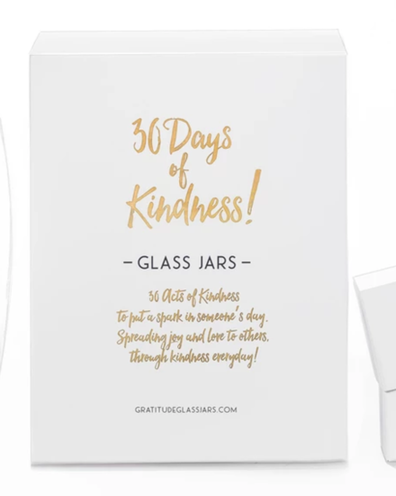 verdigris 30 Days of Kindness Glass Jar
