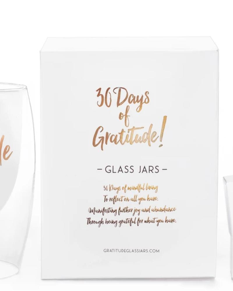 verdigris 30 Days of Gratitude Glass Jar