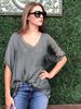 verdigris Jane v-neck blouse