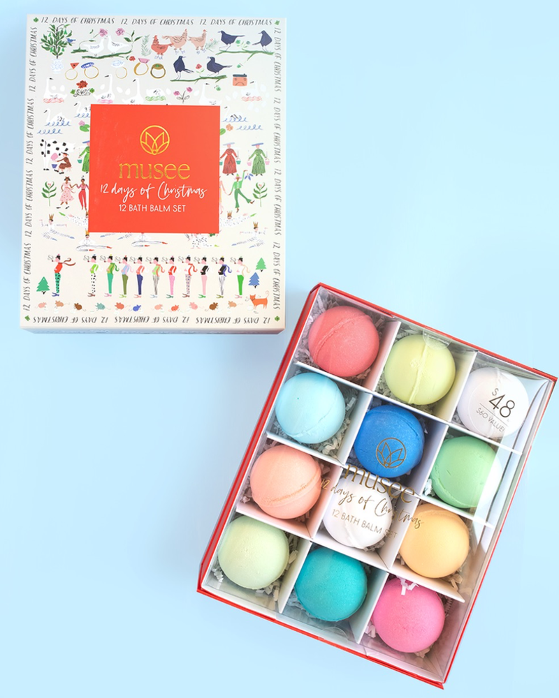 verdigris Twelve Days of Christmas Bath Balm Set