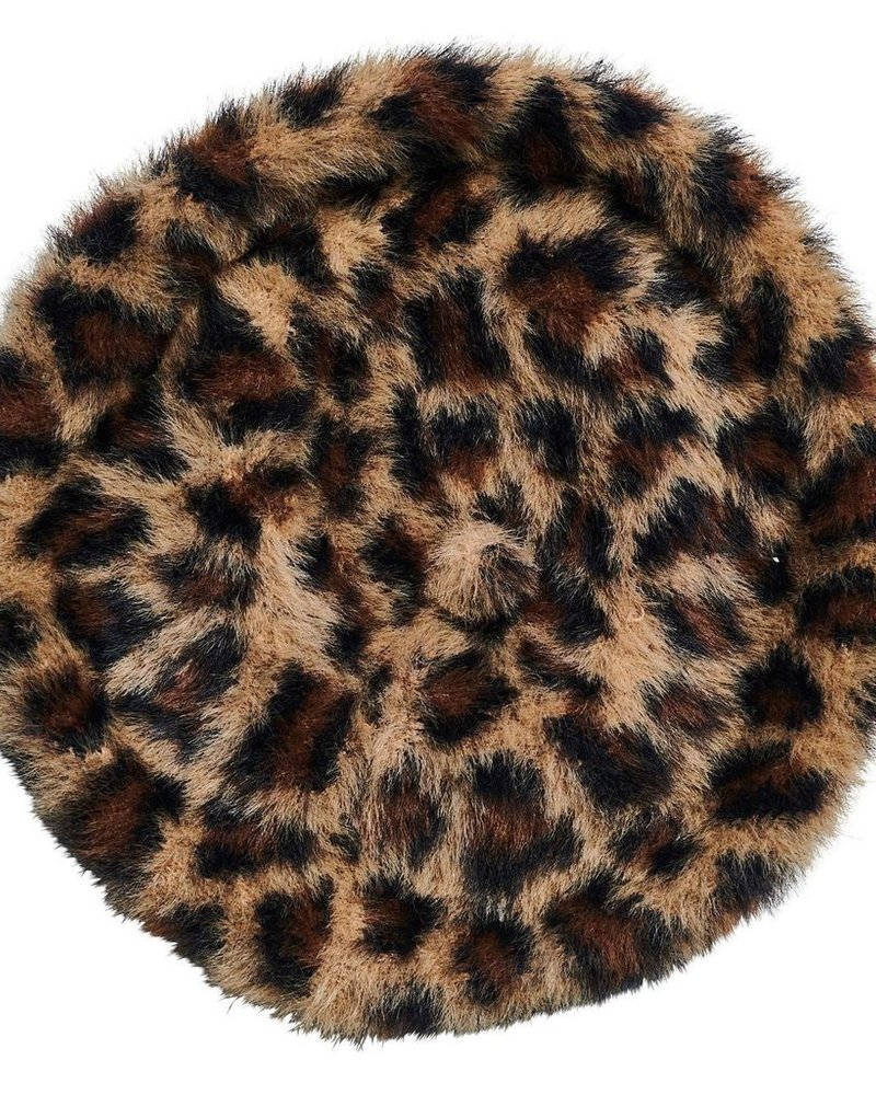 verdigris Leopard Beret