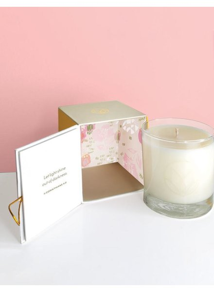 verdigris Champagne and Rose Candle