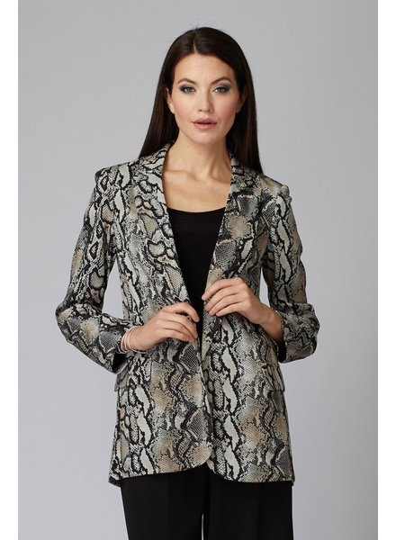 verdigris Snakeskin pattern tuxedo jacket