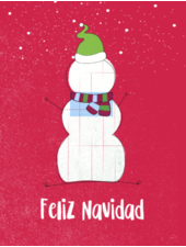 verdigris Holiday Greeting Card, Feliz Navidad