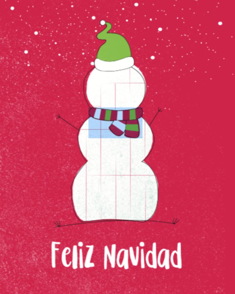 verdigris Holiday Greeting Card, Feliz Navidad