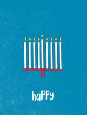 verdigris Holiday Greeting Card, Hanukkah