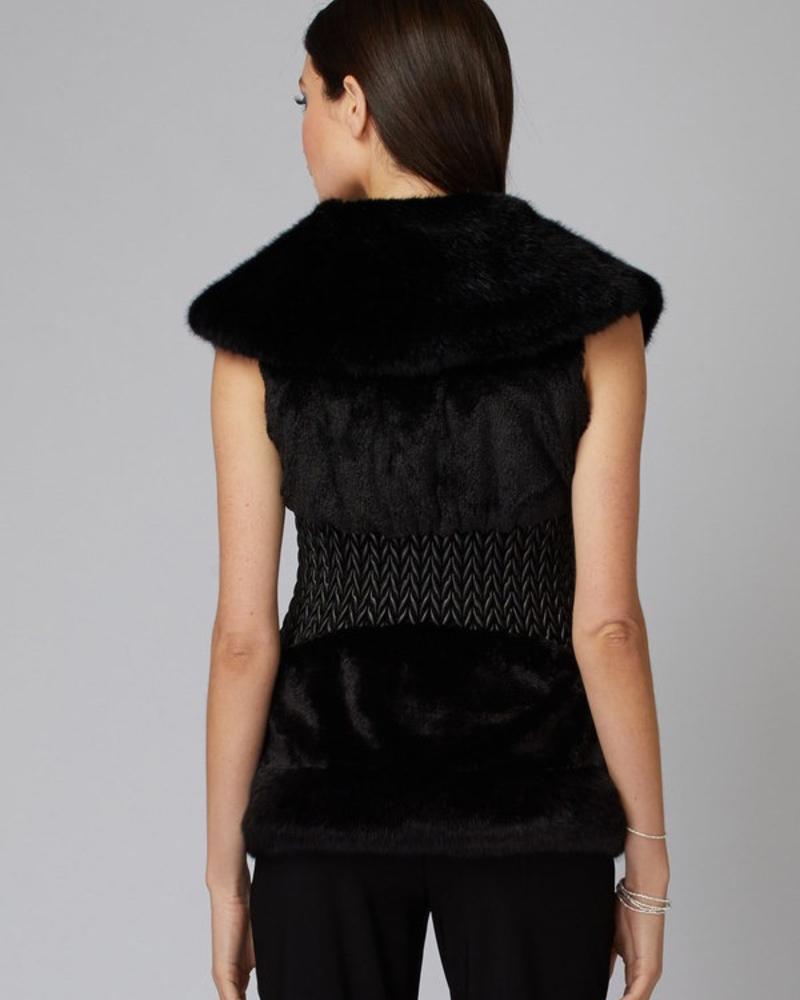 Joseph Ribkoff A faux fur sleeveless vest