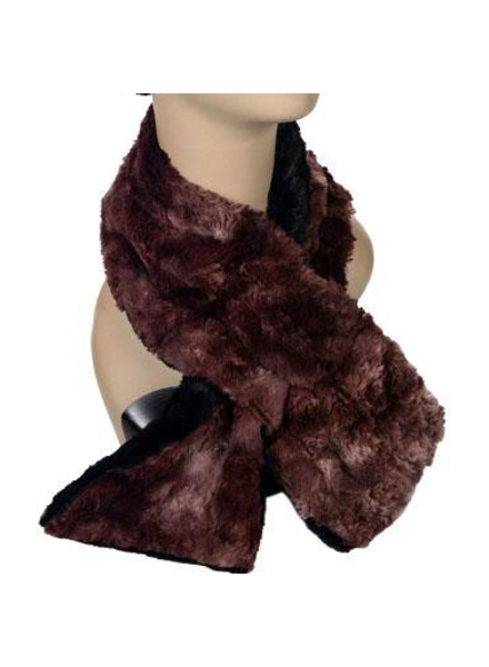 verdigris PULL-THRU SCARF - LUXURY FAUX FUR IN HIGHLAND/THISLE