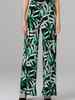 verdigris Leaf patterned palazzo pants