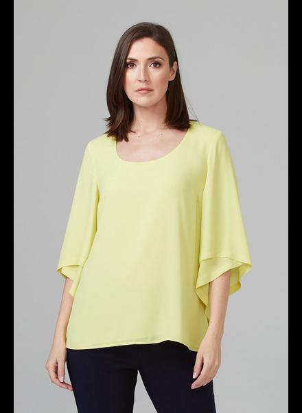 verdigris Petal sleeve blouse
