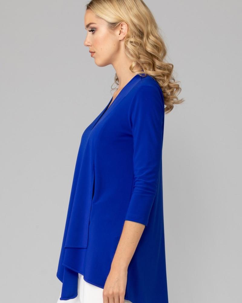 verdigris Asymmetrical loos-fit blouse