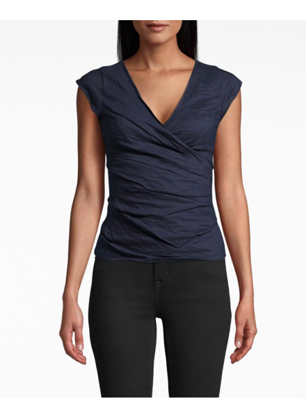 Nicole Miller COTTON METAL LOGAN TOP