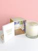 verdigris Linen and Honeysuckle Candle