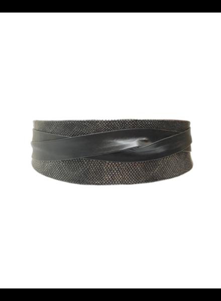 verdigris Wrap Belt Bronze Python Combo