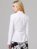 verdigris Mandarin collar blouse