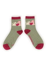 verdigris Puppy Love Ankle Socks
