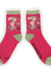 verdigris Bicycling Bunny Ankle Socks