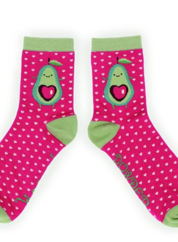 verdigris Avocado Ankle Socks