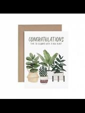 verdigris Congratulations New Plant Greeting Card