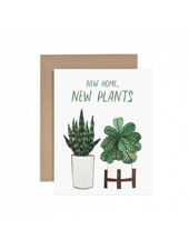 verdigris New Home New Plants Housewarming Greeting Card