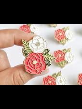 verdigris Irene Floral Cluster Enamel Lapel PinRegular price