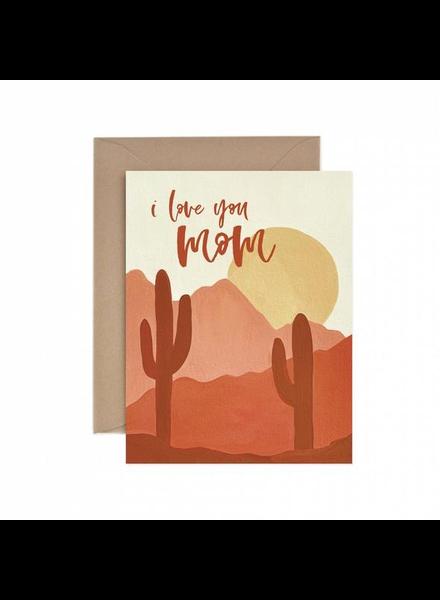 verdigris I Love You Mom Desert Greeting Card