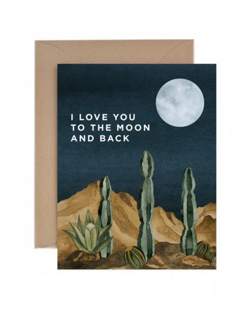 verdigris Moon and Back Greeting Card
