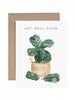 verdigris Get Well Soon Fiddle Leaf Fig Greeting Card
