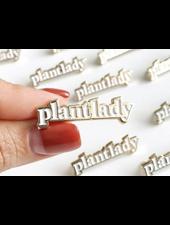verdigris Plant Lady Enamel Lapel Pin