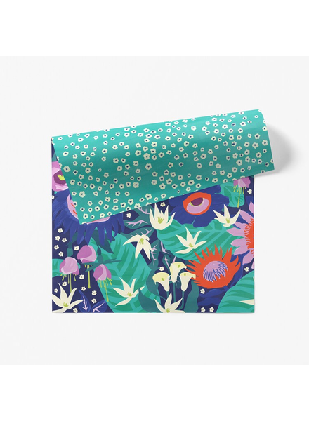 verdigris Night Bloom Gift Wrap