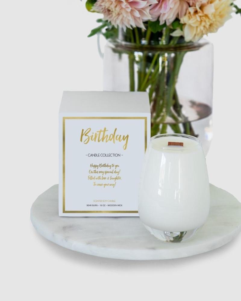verdigris Birthday Wishes Candle