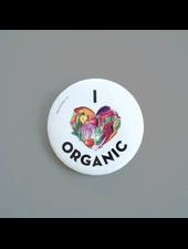 verdigris I Heart Organic Button