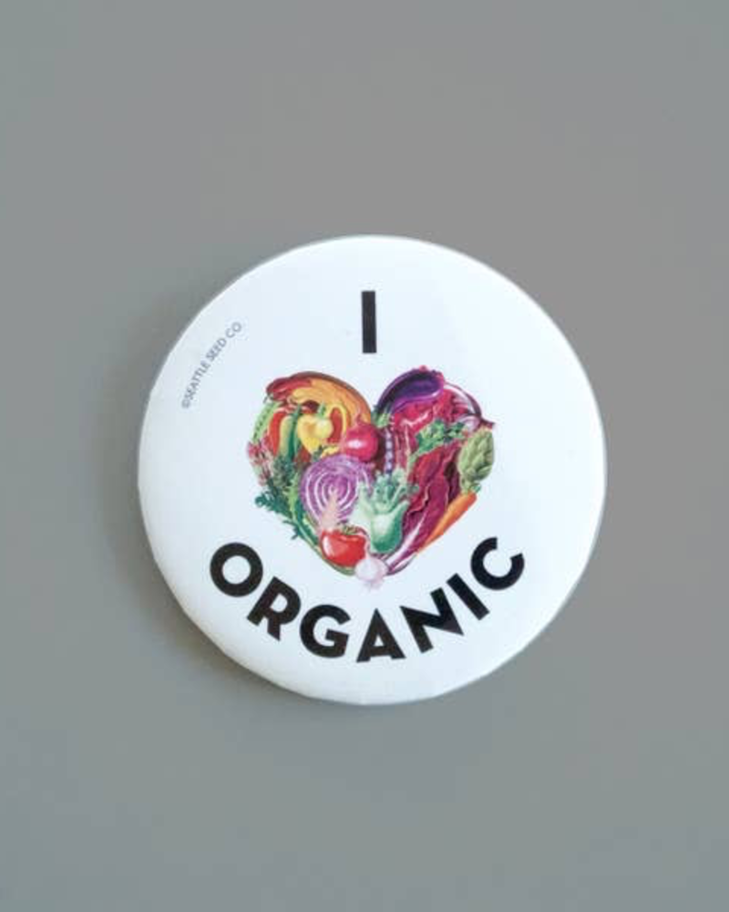 verdigris I Heart Organic Button