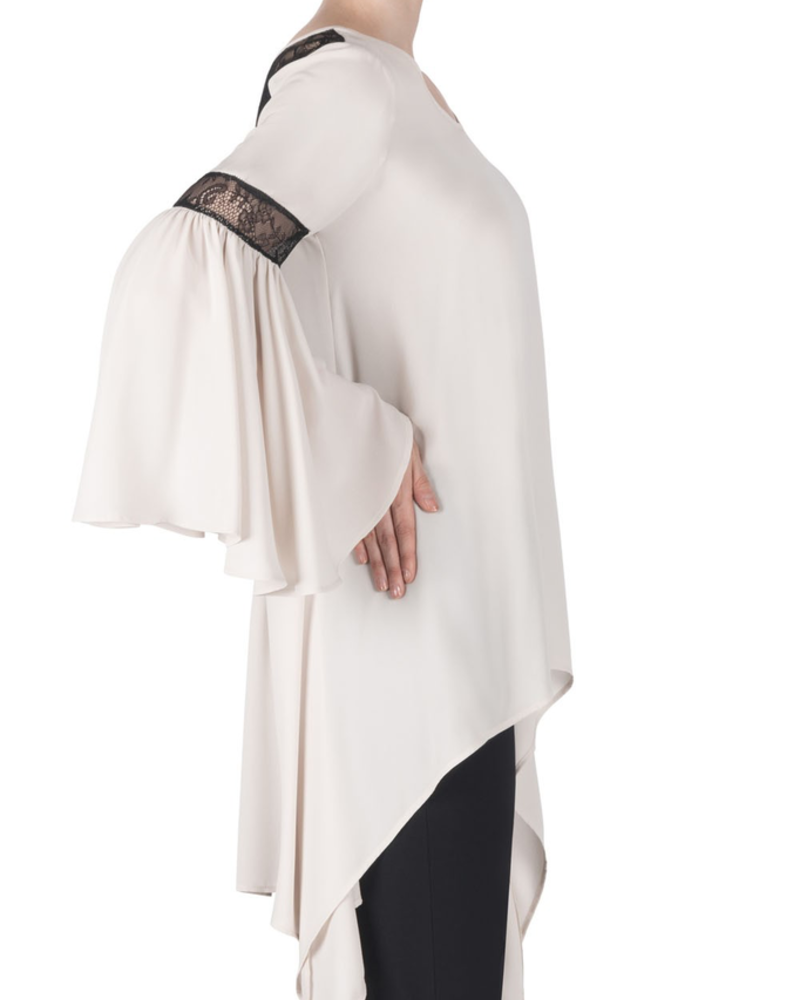 Joseph Ribkoff Bell sleeve lace back detailed tunic