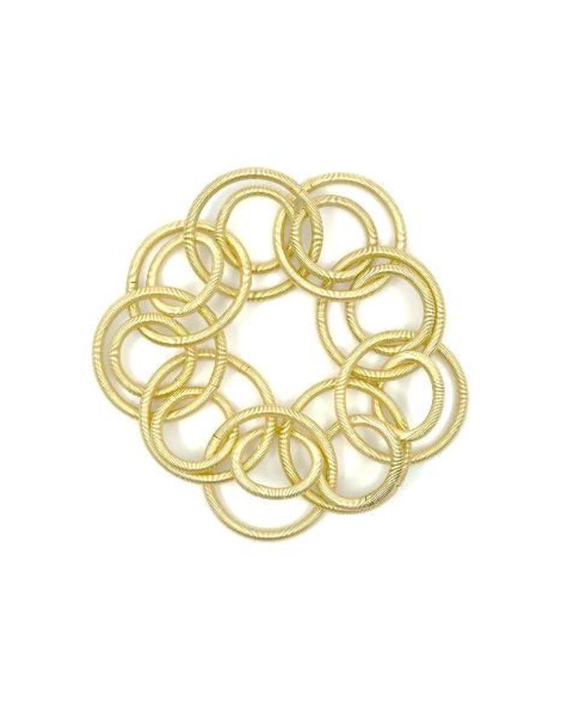 verdigris Bright gold short loop piano wire bracelet bracelet