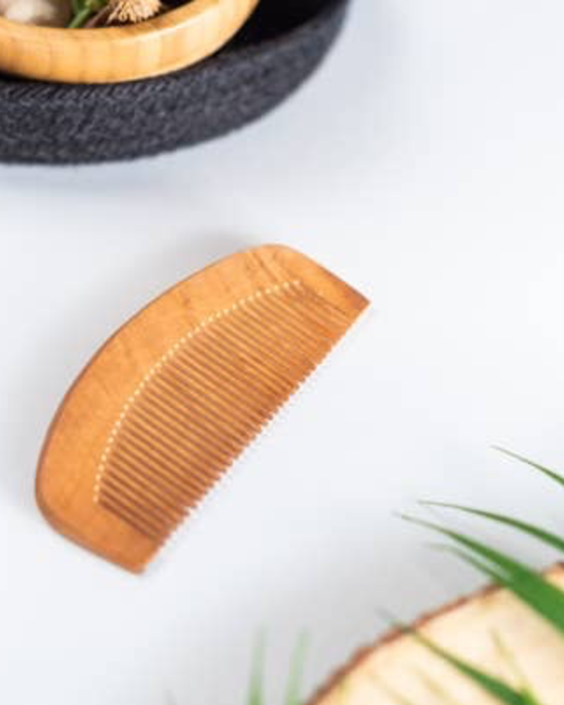 verdigris Wood Beard Comb