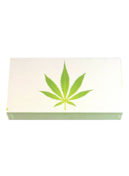 "verdigris Green Marijuana Leaf Embossed 4"" Collectible Match box"