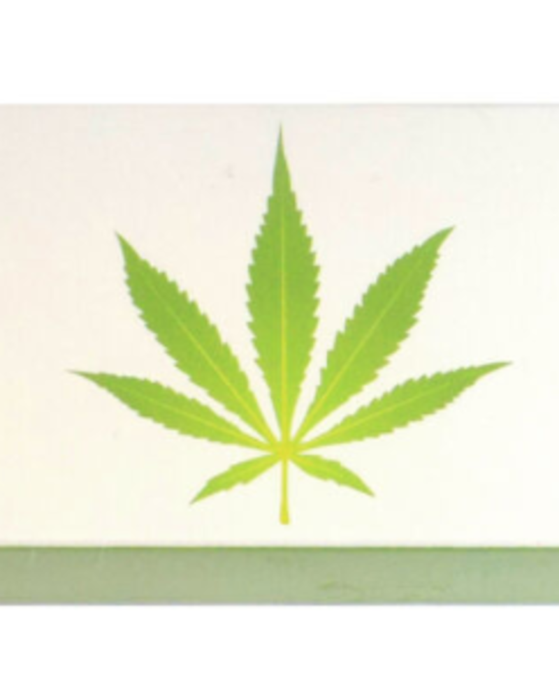 "verdigris Green Marijuana Leaf Embossed 4"" Collectible Match box"