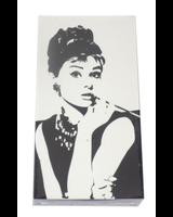 verdigris Audrey Hepburn On Black & White Embossed Matchbox