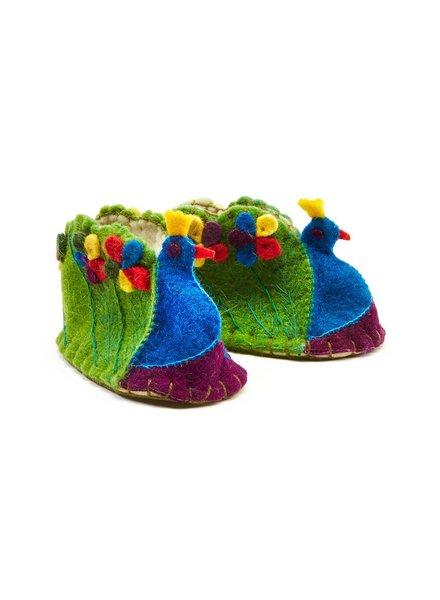 Peacock Zootie, Booties For Babies