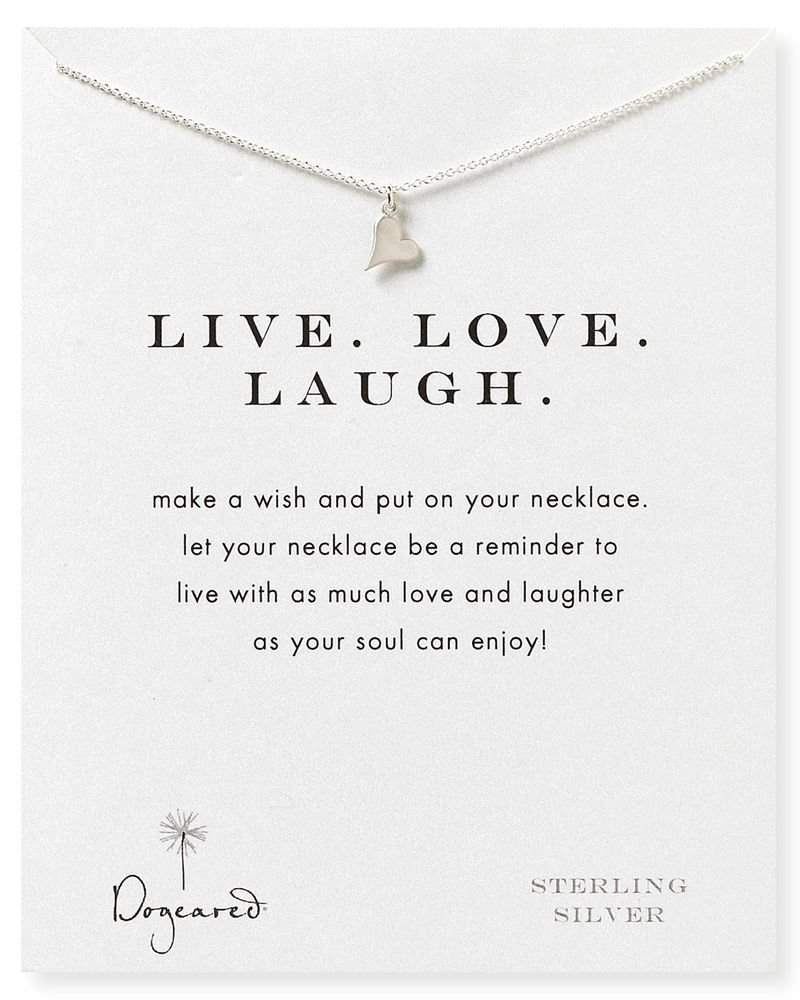 Dogeared Live Love Laugh Necklace