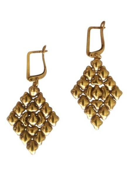 Liquid Metal Antique Gold 24K earrings