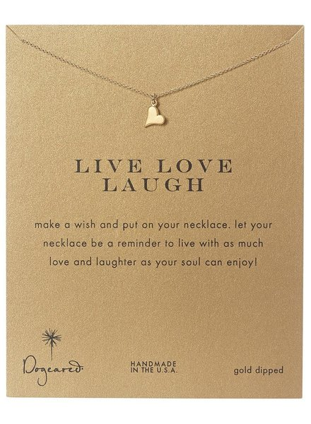 Dogeared Live Love Laugh Necklace
