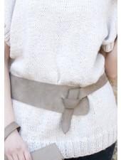 Wide Leather Wrap Belt