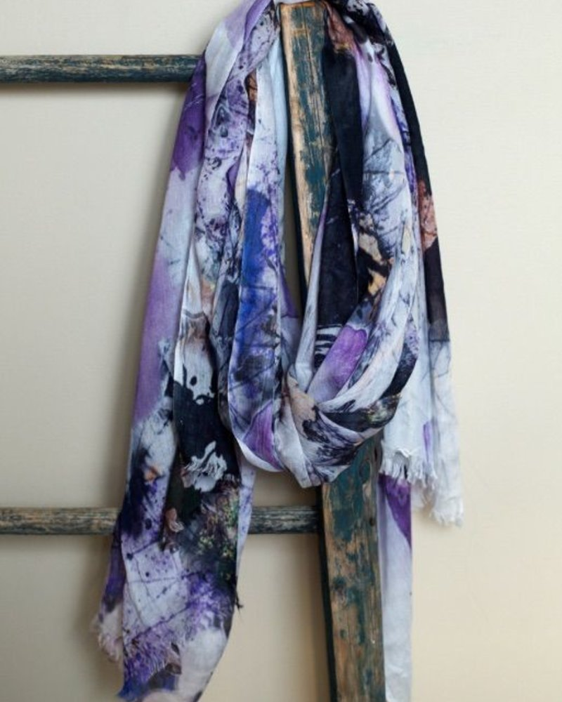 Abstract flowers scarf