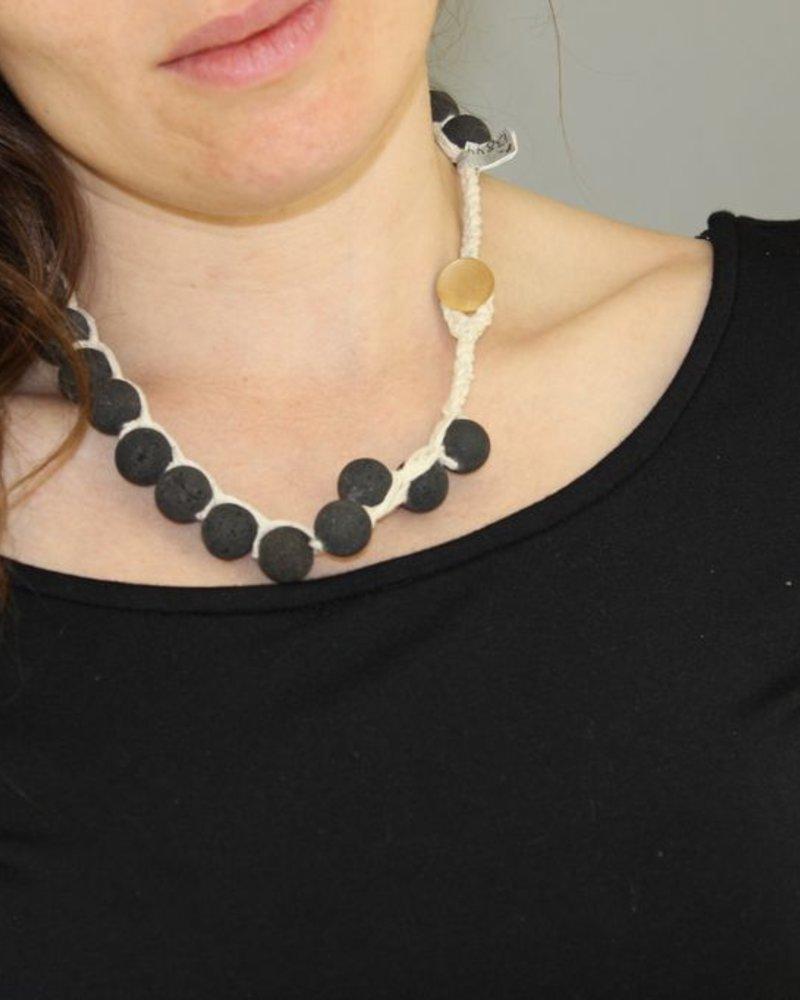 verdigris Black Lava Necklace
